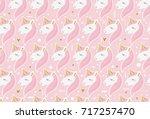 pink vector seamless pattern... | Shutterstock .eps vector #717257470