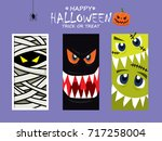 vintage halloween poster design ...   Shutterstock .eps vector #717258004