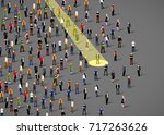 businessman spotlight. human... | Shutterstock .eps vector #717263626