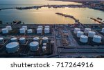 aerial view white oil tank ... | Shutterstock . vector #717264916