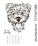 calendar for 2018 with... | Shutterstock .eps vector #717267388