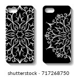 phone case design. set... | Shutterstock .eps vector #717268750