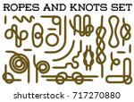 big set of nautical rope knots... | Shutterstock .eps vector #717270880