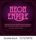 bright neon alphabet letters ... | Shutterstock .eps vector #717270970