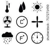 heating icon set | Shutterstock .eps vector #717271450