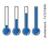vector of blue thermometers at... | Shutterstock .eps vector #717271840