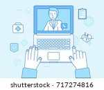 vector illustration in linear... | Shutterstock .eps vector #717274816