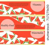 sweet juicy slice of watermelon ... | Shutterstock .eps vector #717275650