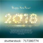 vector 2018 happy new year... | Shutterstock .eps vector #717280774