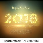 vector 2018 happy new year... | Shutterstock .eps vector #717280783