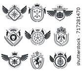 heraldic coat of arms... | Shutterstock .eps vector #717281470