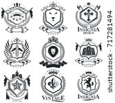 vintage heraldry design... | Shutterstock .eps vector #717281494