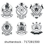 heraldic signs  elements ... | Shutterstock .eps vector #717281500