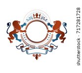 graphic emblem created with... | Shutterstock .eps vector #717281728