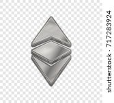 silver ethereum classic coin...   Shutterstock .eps vector #717283924