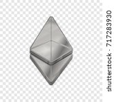 silver ethereum coin symbol... | Shutterstock .eps vector #717283930
