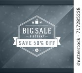 sale sticker label design on... | Shutterstock .eps vector #717285238