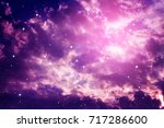 space of night purple sky with...   Shutterstock . vector #717286600