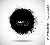 grunge post stamps collection ... | Shutterstock .eps vector #717286666