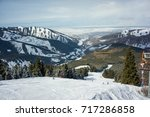 ski resort of karakol in... | Shutterstock . vector #717286858