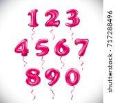 vector pink number 1  2  3  4 ... | Shutterstock .eps vector #717288496