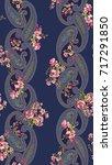 paisley floral design pattern | Shutterstock .eps vector #717291850
