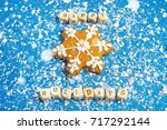 new year or christmas card... | Shutterstock . vector #717292144