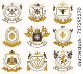 vector classy heraldic coat of... | Shutterstock .eps vector #717295270
