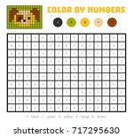 color by number  education game ... | Shutterstock .eps vector #717295630