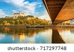 view on bratislava castle and...   Shutterstock . vector #717297748