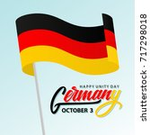 germany happy unity day... | Shutterstock .eps vector #717298018