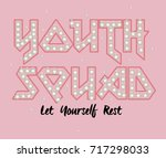 youth rock music type print and ...   Shutterstock .eps vector #717298033