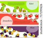 vector square label  kiwi ...   Shutterstock .eps vector #717299626