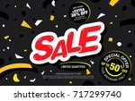 sale banner layout. vector... | Shutterstock .eps vector #717299740