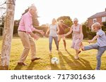 multi generation family playing ... | Shutterstock . vector #717301636
