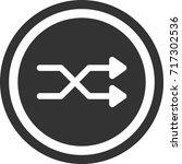 shuffle sign . round icon