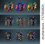 set vector modern framework for ... | Shutterstock .eps vector #717302824
