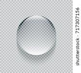 shiny realistic transparent... | Shutterstock . vector #717307156