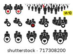 people icon set. management... | Shutterstock .eps vector #717308200