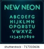 neon font type alphabet....   Shutterstock . vector #717310636