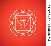 first root chakra muladhara... | Shutterstock . vector #717313750