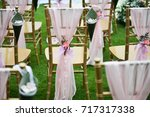 wedding setup | Shutterstock . vector #717317338