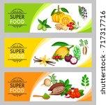 vector illustration superfood...   Shutterstock .eps vector #717317716