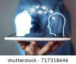 idea concept. knowledge transfer   Shutterstock . vector #717318646