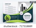 vector business brochure ... | Shutterstock .eps vector #717318889