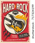 hard rock event poster template.... | Shutterstock .eps vector #717324199
