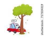 vector flat cartoon car... | Shutterstock .eps vector #717324319