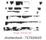 grungy brush strokes set over... | Shutterstock .eps vector #717324610