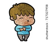 cartoon curious boy   Shutterstock .eps vector #717327958
