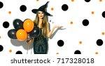 Halloween Party Girl. Happy...